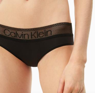 Calvin Klein Kalhotky Logo Lace Black