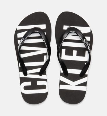 Calvin Klein Žabky Black&White