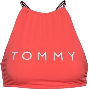 Tommy Hilfiger Plavky Logo Cropped Červené Vrchní Díl