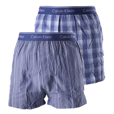 Calvin Klein 2Pack Trenky Modré Se Vzory