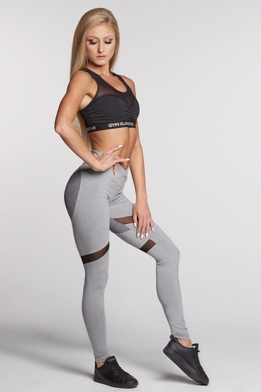 Legíny Gym Glamour Mixed Grey Heart