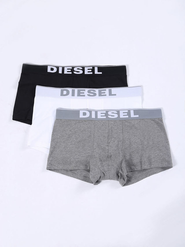 Diesel 3Pack Boxerky Bílé, Černé &Šedé