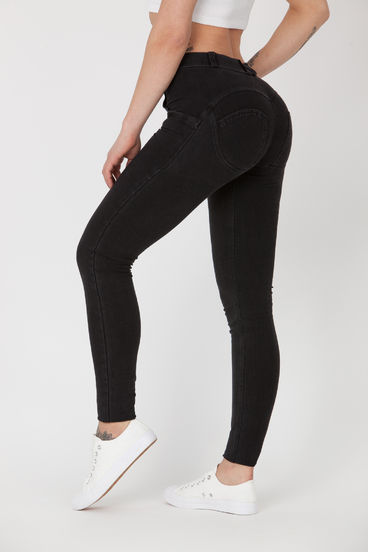 Boost Jeans Mid Waist P Black