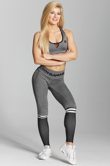 Legíny Gym Glamour Grey & Black Socks