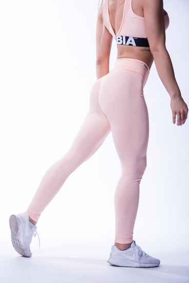 Nebbia 604 High Waist Scrunch Butt Legíny Lososové