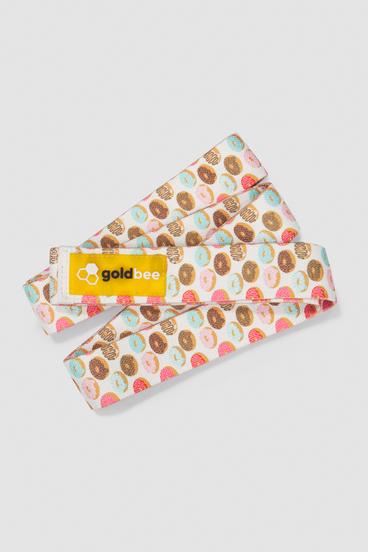 GoldBee Textilní Odporová Guma Dlouhá - Donuts
