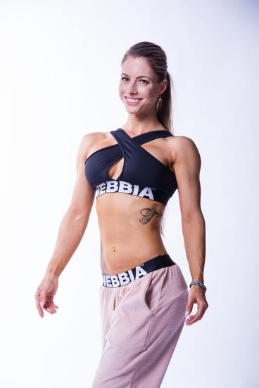 Nebbia 622 Crossed Sports Bra Černá