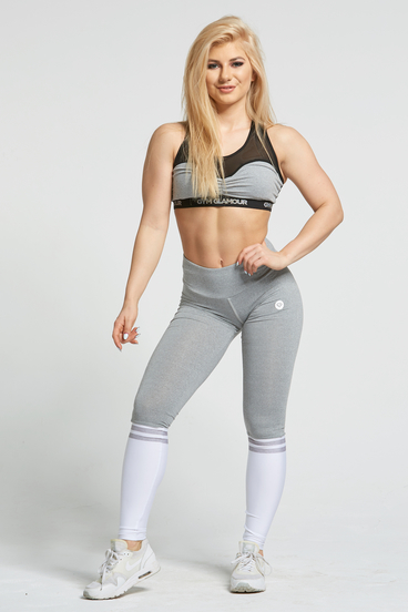 Gym Glamour Legíny Grey & White Socks