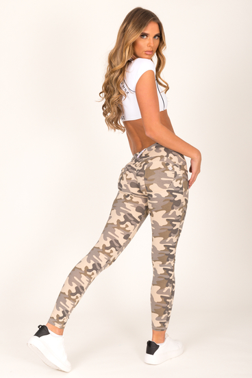 Hugz Camo Light Low Waist Jegging