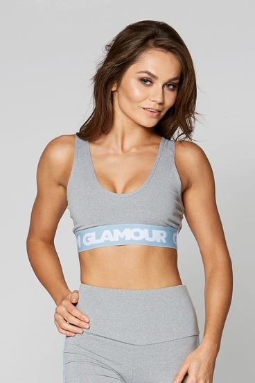 Podprsenka Gym Glamour Grey Basic