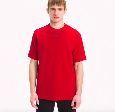 Tommy Hilfiger Tričko Flag Červené Pánské