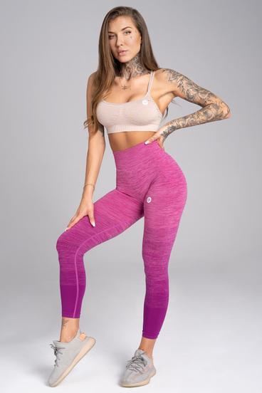 Gym Glamour Legíny Bezešvé Pink Ombré