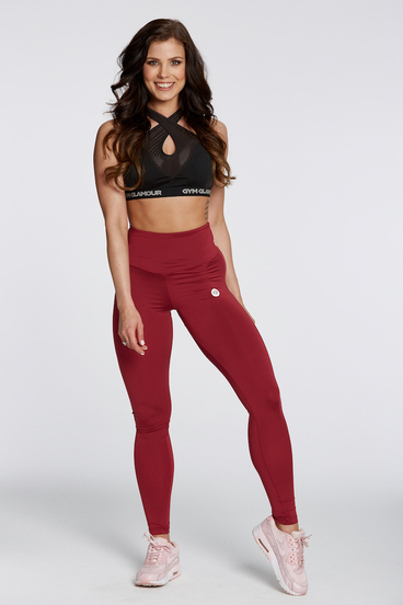 Legíny Gym Glamour High Waist Bordo