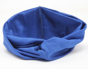 Čelenka Twist Turban Modrá