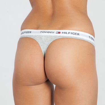 Tommy Hilfiger Tanga Cotton Iconic Šedé