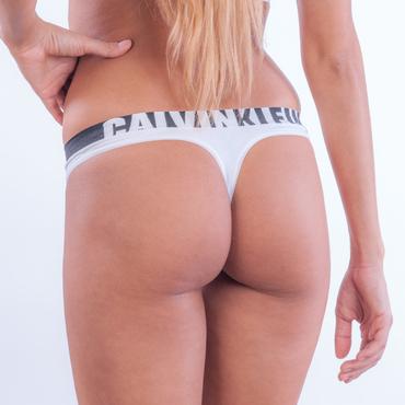 Calvin Klein Tanga Longline White