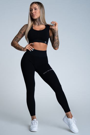 Gym Glamour Legíny Push Up Deep Black