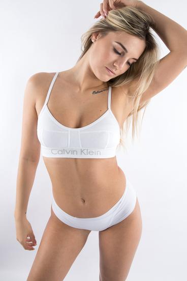 Calvin Klein Podprsenka Bralette Body Bílá