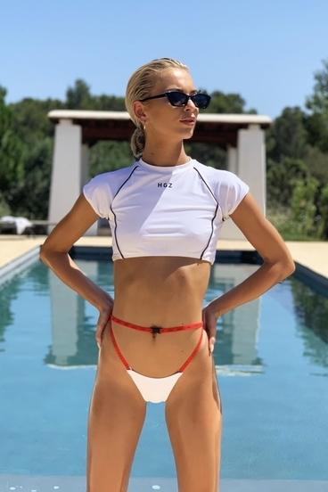 Hugz Plavky Tokyo T-Shirt Bikini White