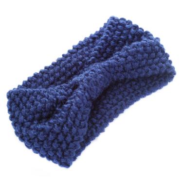 Čelenka Do Vlasů Zimní Tmavě Modrá