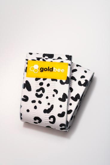GoldBee Textilní Odporová Guma - Bílá Leopardí