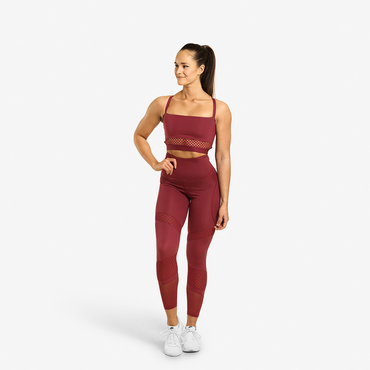 Better Bodies Legíny Waverly Mesh Sangria Red