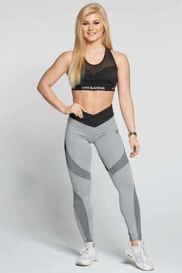 Gym Glamour Legíny Glam Mixed Grey