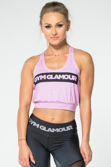 Gym Glamour Top Krátký Růžový