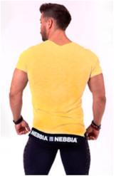 Nebbia Tričko 140 Be Rebel Pánské Žluté