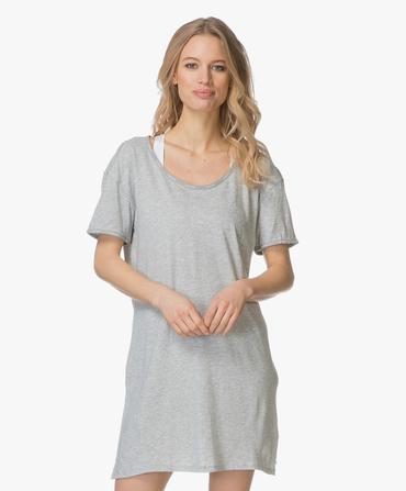 Calvin Klein Dámská Noční Basic Košilka Šedá