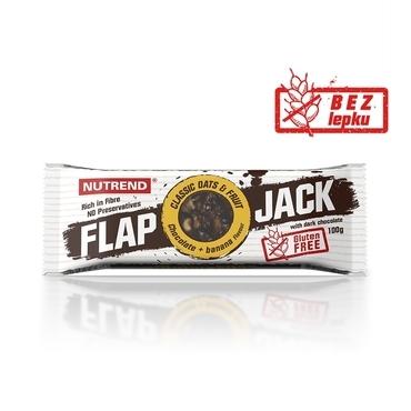 Nutrend Tyčinka Flap Jack Čokoláda A Banán V Hořké Čokoládě