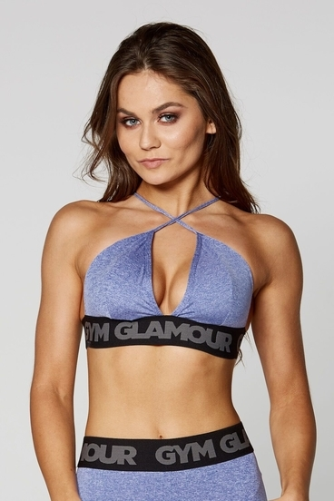 Gym Glamour Podprsenka Purple Sexy String