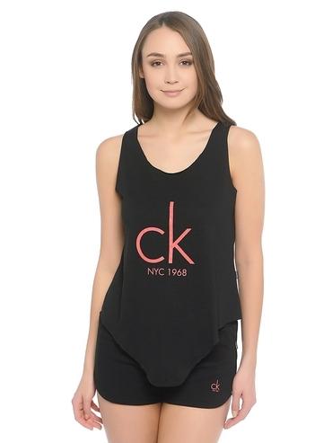 Calvin Klein Tílko Knotted Černé