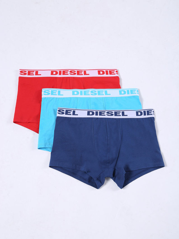 Diesel 3Pack Boxerky Red, Blue & Turquoise