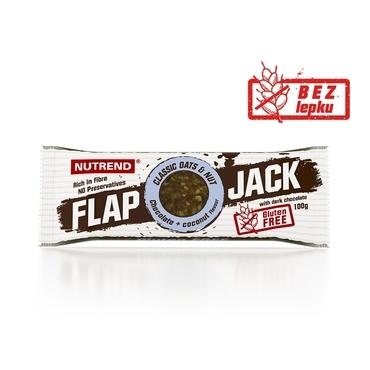 Nutrend Tyčinka Flap Jack Čokoláda A Kokos V Hořké Čokoládě