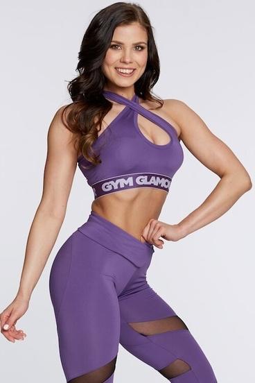 Gym Glamour Podprsenka Violet Basic