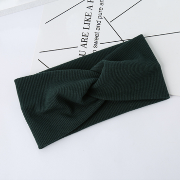 Čelenka Do Vlasů Turban Dark Green