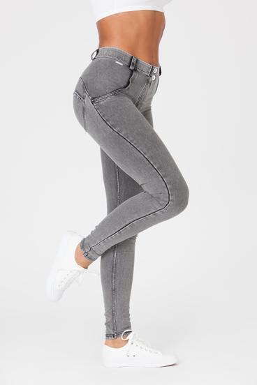 Boost Jeans Mid Waist Grey