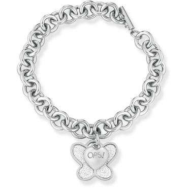 Ops! Objects Náramek Glitter Kolekce Silver Butterfly