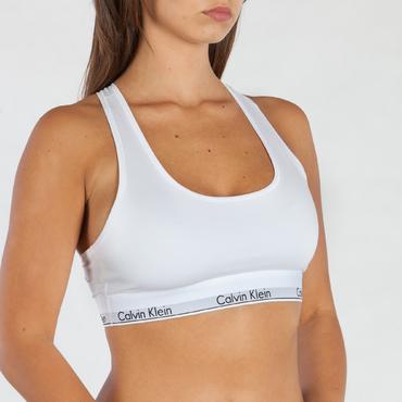 Calvin Klein Podprsenka Bralette Unlined Bílá