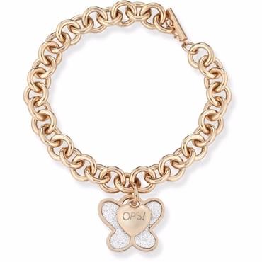 Ops! Objects Náramek Glitter Kolekce Gold Butterfly