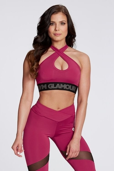 Podprsenka Gym Glamour Raspberry Basic