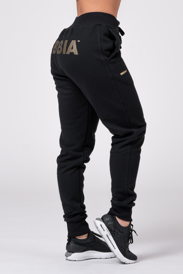 Nebbia Sweatpants 826 Gold Classic Black