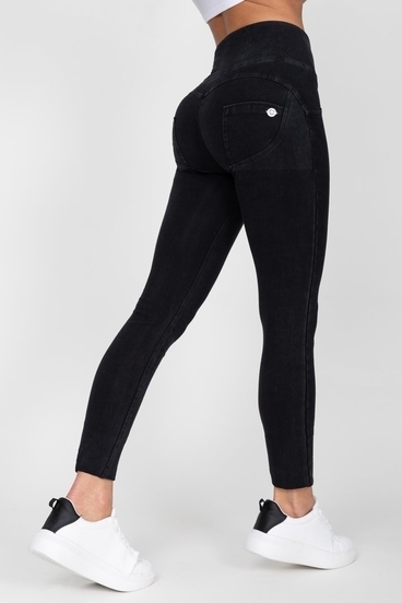 Hugz Black High Waist Denim Black Stitch