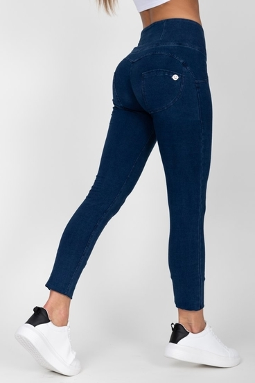 Hugz Dark Blue High Waist Denim Dark Stitch