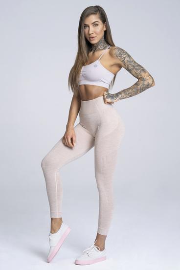 Gym Glamour Legíny Bezešvé Beige
