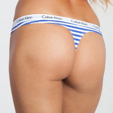 Calvin Klein Tanga Modro-Bílé