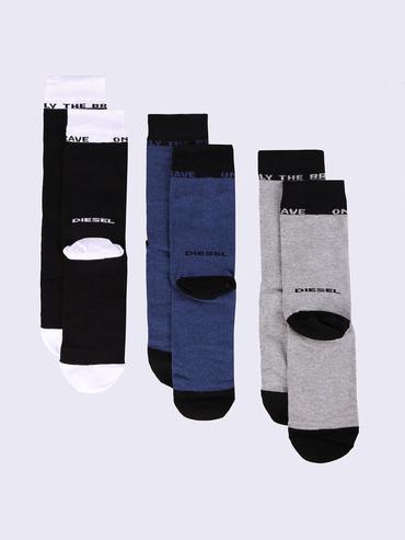 Diesel 3Pack Ponožky Černé, Modré A Šedé