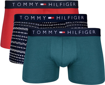 Tommy Hilfiger 3Pack Boxerky Red, Green, Navy