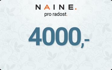 Dárkový Poukaz 4000Kč